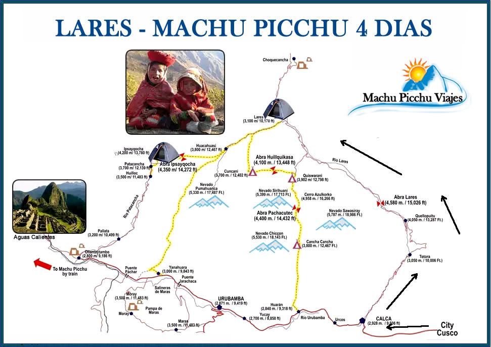Lares Machu Picchu 04 Dias