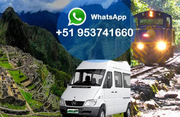 Transporte para llegar a Machu Picchu
